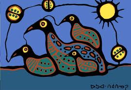 Loon Family by Norval Morrisseau
