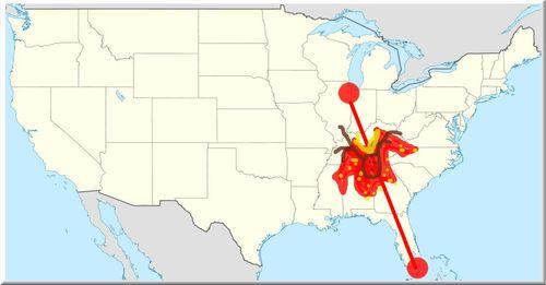 Sweater map of usa