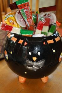 candy stuffed cat
