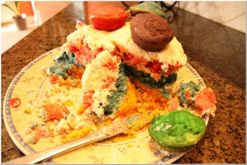 Rainbow bake