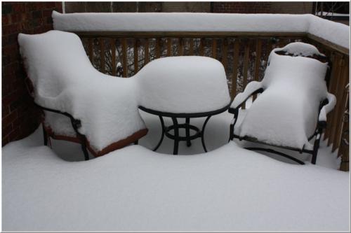 Hey look. It snowed.